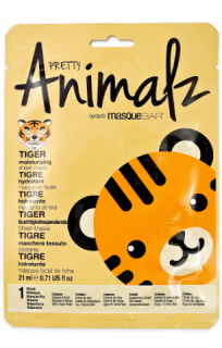 masqueBAR Animalz Tiger Sheet Mask - zvlhčující